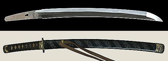 名物写し 児手柏康継 (葵紋)以南蛮鉄於武州江戸越前康継(初代)(Aoi Seal)Echizen Yasutsugu with Nanbantetsu at Edo (First Generation)