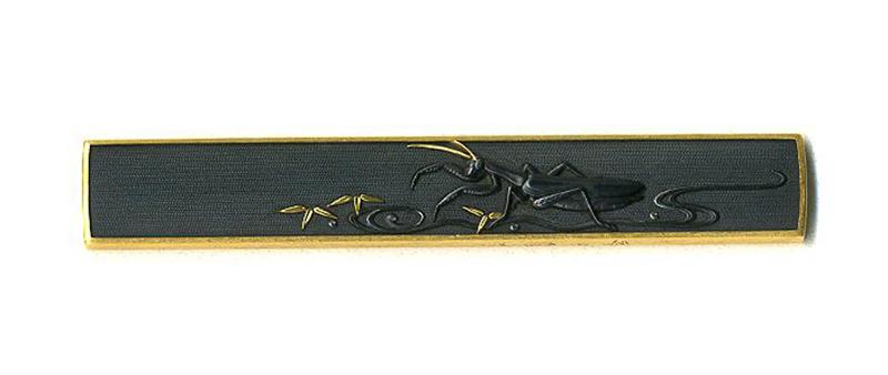 後藤法橋一乗 蟷螂図小柄 龍獅堂コレクションGotou Houkyo Ichijyo Kozuka design of Mantis