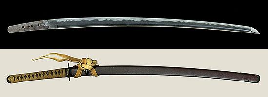 神津伯氏旧蔵品 鞘書並びに直筆添状付き 備州長船実光 応永十六年五月日Bishu Osafune Sanemitsu A.D.1409