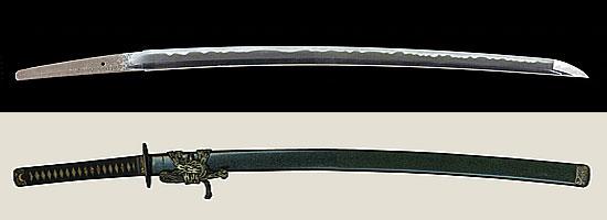 喜翁荘司美濃介藤原直胤作之 嘉永七年二月吉日Kiou Souji Mino no suke Fujiwara Naotane A.D.1854