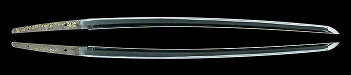 井上真改(菊紋)延宝四年八月日 (金象嵌)秋水 二ツ胴裁断Inoue Shinkai (Kiku Seal) A.D.1676 Kinzougan Saidanmei Shusui
